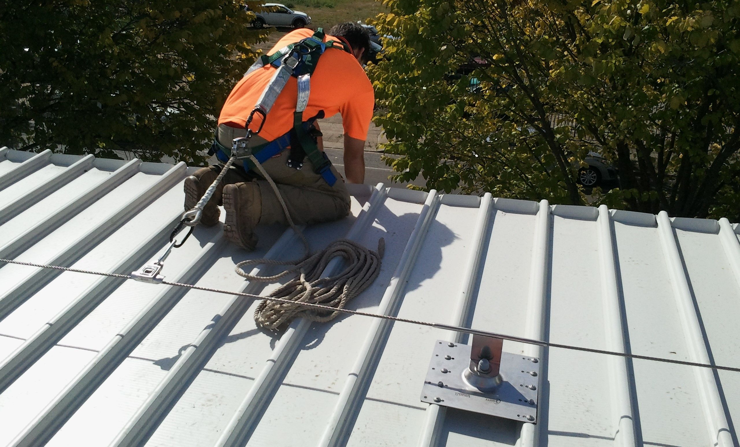 Roof Static line system