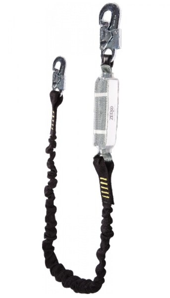 ZERO SINGLE ELASTICATED LANYARD WITH SNAPHOOKS