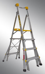 GORILLA Height Adjustable Platform Ladder 150Kg Industrial